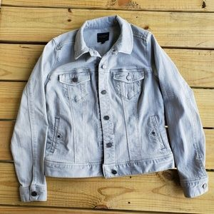 Liverpool Fossille Grey Denim Jacket Size Small